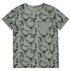 Junior - Tee-shirt manches courtes print oiseaux all-over
