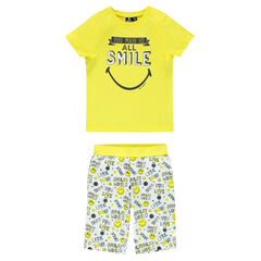 Pyjama court print ©Smiley