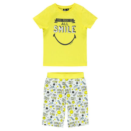 Pyjama court print ©Smiley
