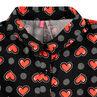 Chemise manches longues évasée avec coeurs et rayures all-over