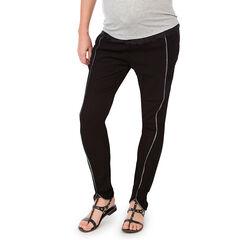 Pantalon de grossesse en crêpe avec biais tressés