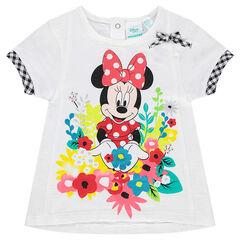 Tee-shirt manches courtes Disney avec Minnie et fleurs printées