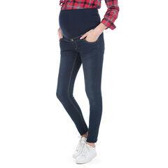 Jeans de grossesse effet used avec bandeau haut