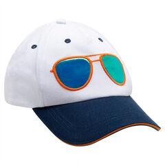 Casquette en twill bicolore avec lunettes effet miroir