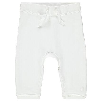 Pantalon de naissance en molleton uni
