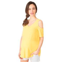 Tee-shirt de grossesse manches courtes à épaules dénudées