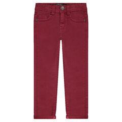 Junior - Pantalon en toile coupe slim