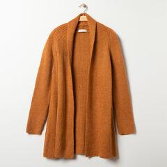 Gilet long de grossesse en tricot , Prémaman