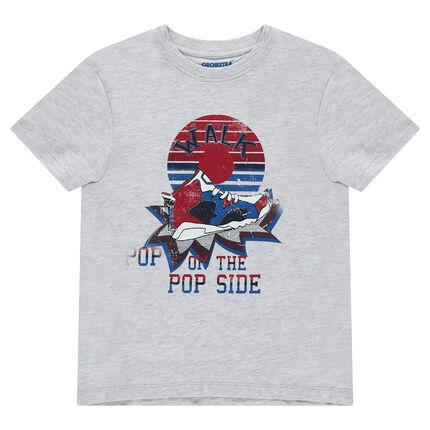 Junior - Tee-shirt manches courtes en jersey avec print fantaisie sur le devant