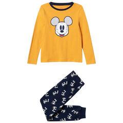 Pyjama en coton bio à broderie et imprimés Mickey Disney