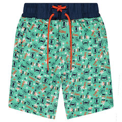 Short de bain avec imprimé fantaisie all-over