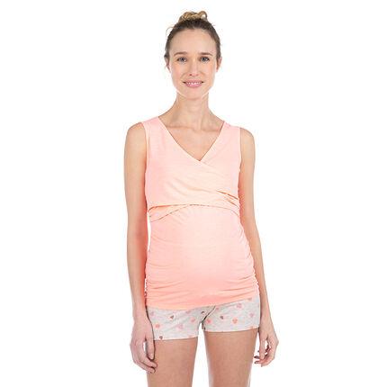 Débardeur homewear de grossesse et d'allaitement