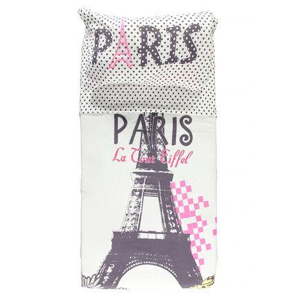 """Housse de couette et taie d'oreiller junior """"Paris"""" 140x200 cm"""
