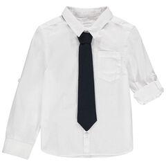 Chemise manches longues cérémonie à cravate amovible , Orchestra