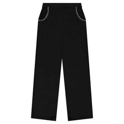 Junior - Pantalon large en crêpe