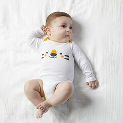 Lot de 7 bodies manches longues en coton bio pour bébé garçon , Orchestra
