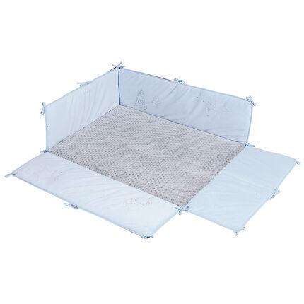 Tapis de parc avec rebords Poudre d'étoiles Bleu - 75 x 95 cm