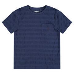 Junior - Tee-shirt manches courtes avec effet de rayures et poche