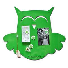 Tableau magnétique Hibou 50 x 60 cm - Lime Green