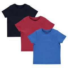 Lot de 3 tee-shirts manches courtes unis
