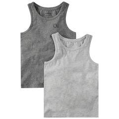 Lot de 2 maillots de corps forme débardeur avec logo printé