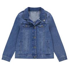 19de0de72888b Junior - Veste en jeans effet used avec poches