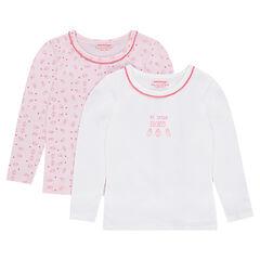 Lot de 2 tee-shirts (maillot de corps) imprimé / uni