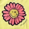 Débardeur en jersey avec fleur Smiley en sequins magiques
