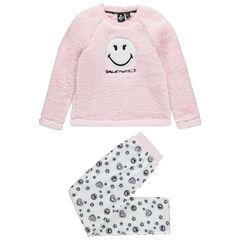 Pyjama en polaire avec Smiley brodé sur le devant