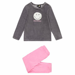 956455c4b3195 Pyjama en velours bicolore avec patch ©Smiley