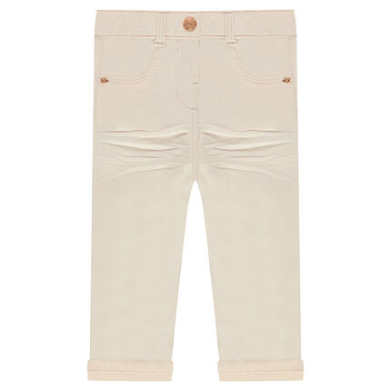 Pantalon en twill uni coupe slim