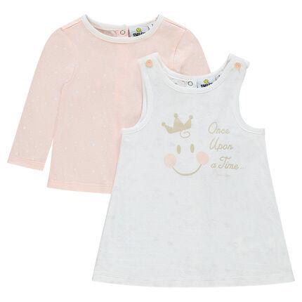 Ensemble robe sans manches et tee-shirt avec print ©Smiley Baby