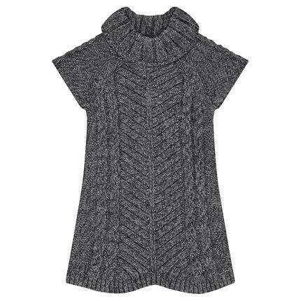 Junior - Robe tricot avec jeu de mailles