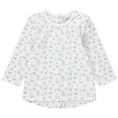 T-shirt manches longues à motifs fantaisie