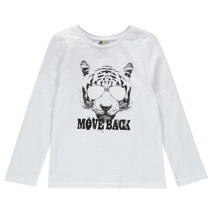 Tee-shirt manches longues photochromique avec print tigre bce1efa2bf08