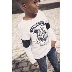 T-shirt manches longues print Harry Potter Hogwarts pour enfant garçon , Orchestra