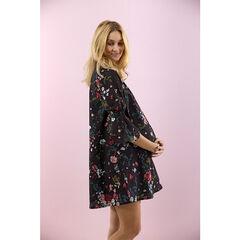 Robe de grossesse ample imprimée fleurs all-over