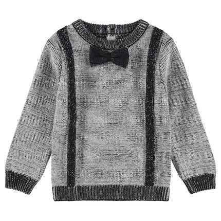 Pull en tricot fantaisie avec noeud papillon cousu - Orchestra FR 74182a3cdb4