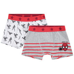 Lot de 2 boxers en coton print Marvel Spiderman