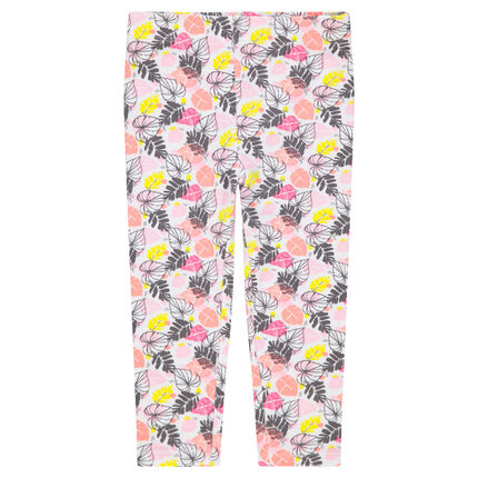 Legging en jersey avec motif floral all-over