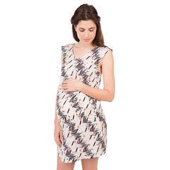 Robe de grossesse imprimée all-over