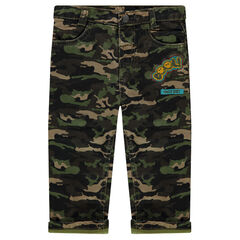 Pantalon motif army avec badges patchés ©Smiley