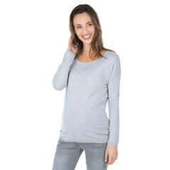 Pull de grossesse en tricot fin avec maille ajourée