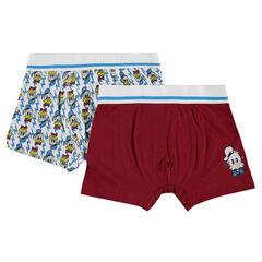 Lot de 2 boxers assortis Disney print Donald