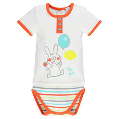 Body naissance manches courtes print lapin