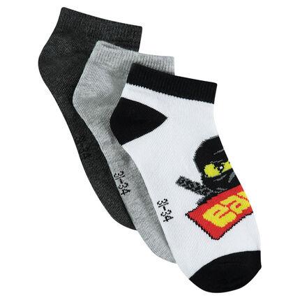 Lot de 3 paires de chaussettes courtes ©Warner/Lego motif Ninjago