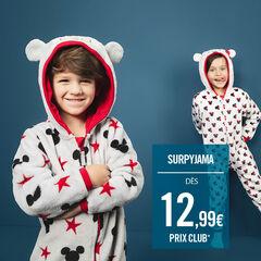 Surpyjama en sherpa avec Minnie Disney printée et oreilles en relief