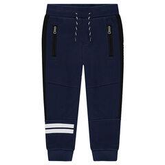 Junior - pantalon de jogging avec bandes printées et poches zippées