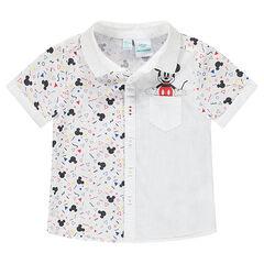 Chemise manches courtes avec imprimé Mickey ©Disney et poche