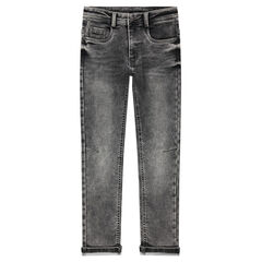 Junior - Jeans en molleton effet used